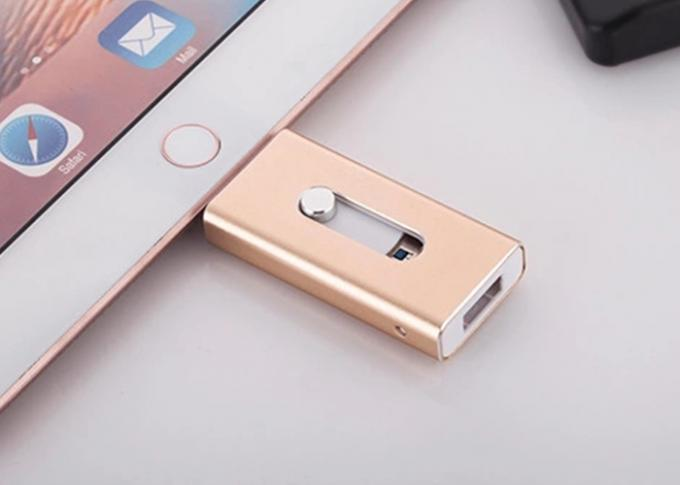 Colorful Apple Lightning Flash Drive With 8 Pin Double Sided Plug Micro USB 2.0 Port