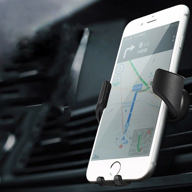 Mobile Phone Qi Wireless Car Charger 360 Degree , Wireless Charging Phone Mount