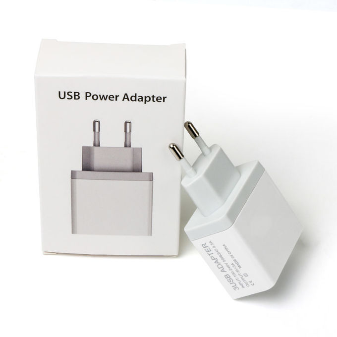 White Color 3A 5 Watt USB Power Adapter , 3 USB Power Charger Adapter