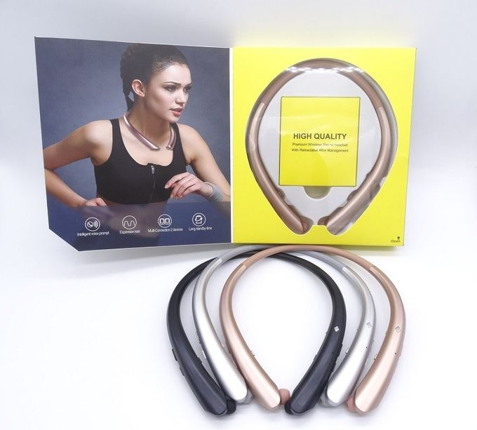 Popular Wireless Bluetooth Headphones Stereo Headset Behind / Around Neck Style